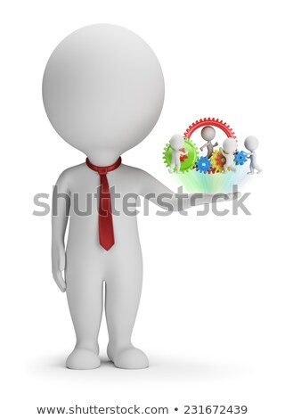 3d small people   manager and his team stock photo © anatolym