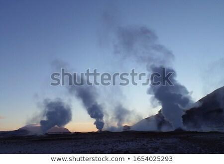вечер мнение лава области дым Исландия Сток-фото © 1Tomm