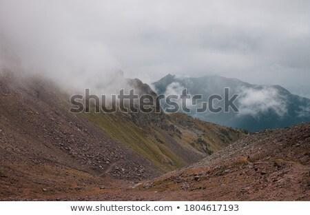Magas völgy égbolt fű hegy kék Stock fotó © Antonio-S