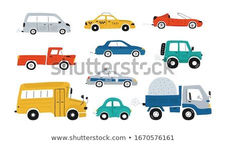Red car toys set isolated on white background Stock photo © simpson33