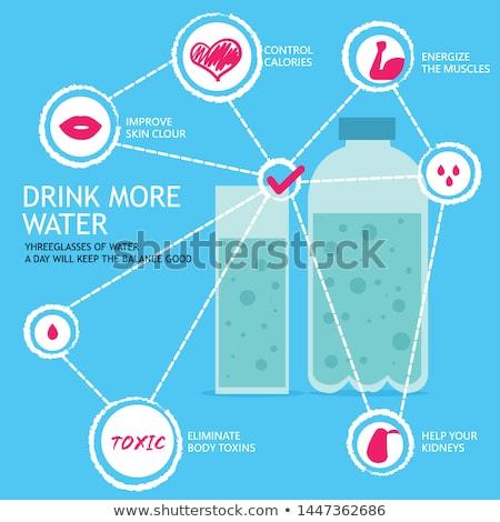 Pić więcej wody dzień projektu krwi Zdjęcia stock © anastasiya_popov