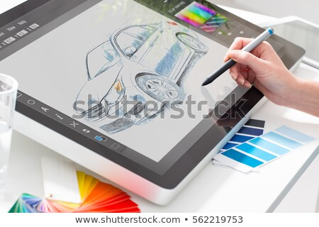 designer drawing on graphic tablet stock photo © hasloo