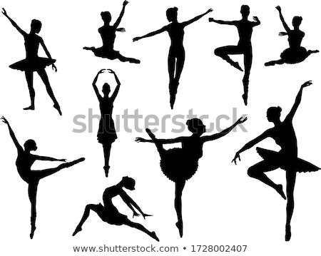 Gimnasztikai balett póz fiatal nő lány test Stock fotó © godfer
