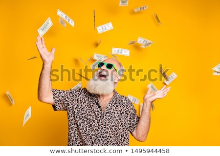 Işadamı gülen düşen para yarım portre Stok fotoğraf © Flareimage