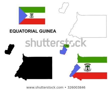 bandiera · Guinea · Equatoriale · albero · mappe · pulsante · politica - foto d'archivio © mayboro1964