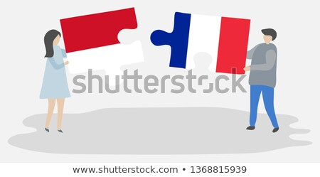 Indonesia and France Flags in puzzle Stock photo © Istanbul2009