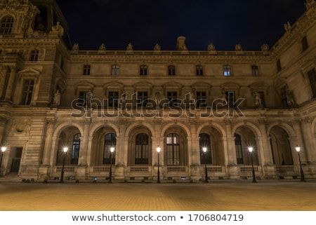 entrance to the louvre in paris stock photo © andreykr