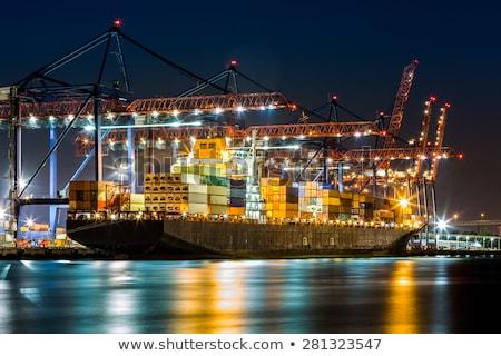 грузовое · судно · Нью-Йорк · изображение · воды · металл · океана - Сток-фото © magann