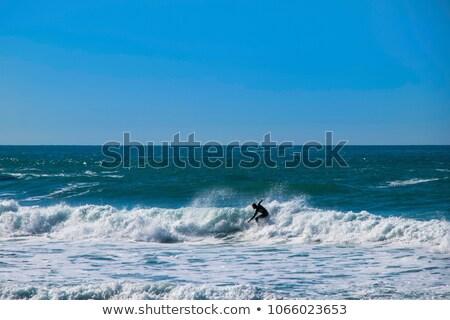 Sea foam at Trebarwith strand Stock photo © chris2766