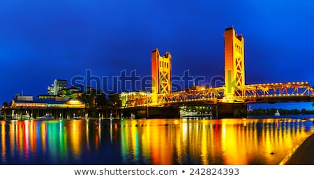 Panorama of Golden Gates drawbridge in Sacramento Stock photo © AndreyKr