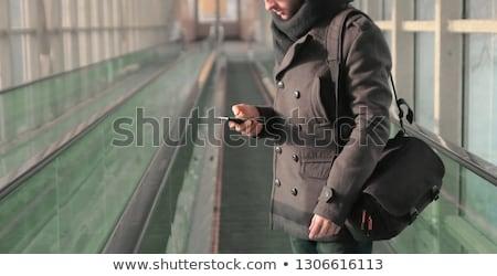 Сток-фото: человека · Постоянный · эскалатор · кроссовки · лестница