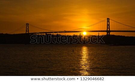 Pôr do sol cidade ocidente yorkshire inglaterra projeto Foto stock © chris2766