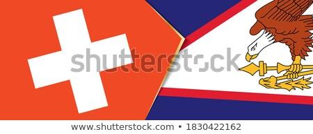 Швейцария Американское Самоа флагами головоломки изолированный белый Сток-фото © Istanbul2009