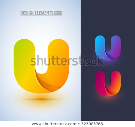 yellow red letter u logo symbol design element stock photo © blaskorizov