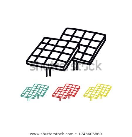 doodle solar panels Stock photo © netkov1