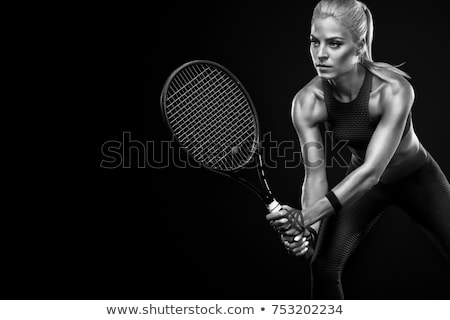 portrait of a beautiful female tennis player stock photo © deandrobot