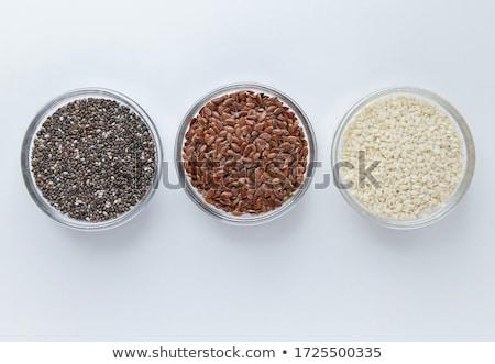 organic linseed or flaxseed stock photo © ziprashantzi