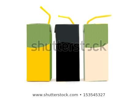 Blank Milk or Juice Pack isolated on black background Stock photo © netkov1