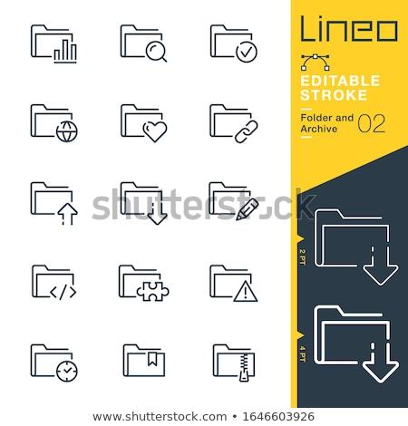 Carpeta catálogo soluciones primer plano vista Foto stock © tashatuvango