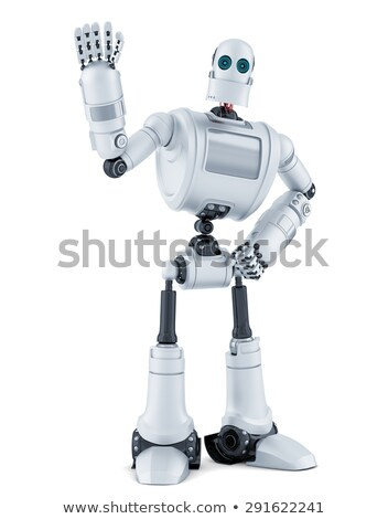 Robot waving hello. Isolated. Contains clipping path. Stock photo © Kirill_M