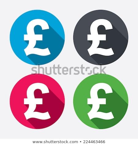 pound sign pink vector button icon stock photo © rizwanali3d