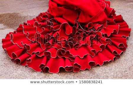 Gipsy red spots dress texture background Stock photo © lunamarina