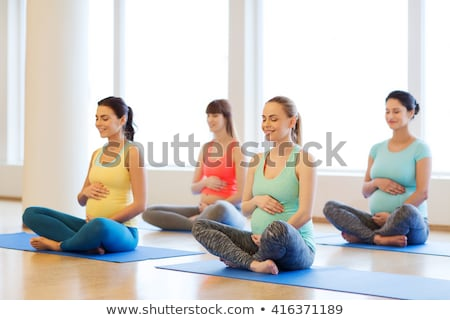 pregnant woman is zen stock photo © dnf-style