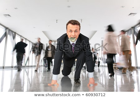 üzlet · maraton · kollázs · üzletember · csoport · öltöny - stock fotó © Paha_L