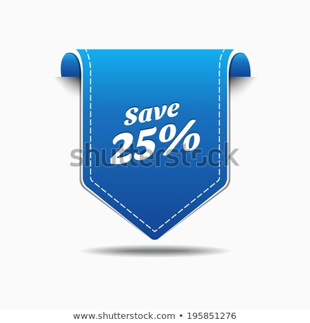 сохранить На 25 процент синий вектора икона Сток-фото © rizwanali3d