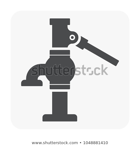 Iron water pump Stock photo © ndjohnston