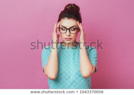 retrato · frustrado · jóvenes · gritando · mujer - foto stock © deandrobot