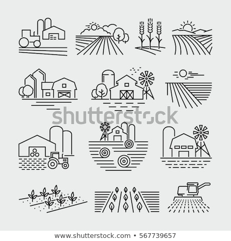 Combine harvester line icon. Stock photo © RAStudio