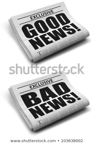 goed · nieuws · krant · rollen · witte · papier · communicatie - stockfoto © devon
