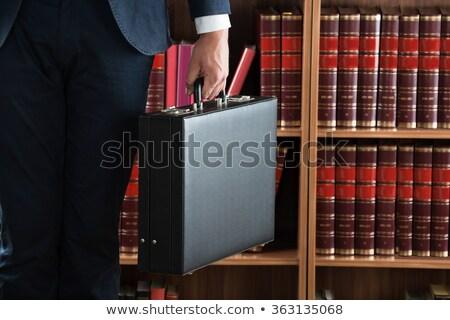 Advocaat aktetas boekenplank boek Stockfoto © AndreyPopov