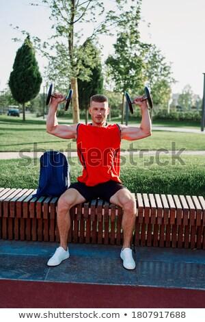 Pesas crossfit gimnasio fitness ocio Foto stock © wavebreak_media