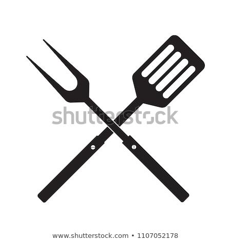 кухне икона знак веб приготовления Сток-фото © kiddaikiddee