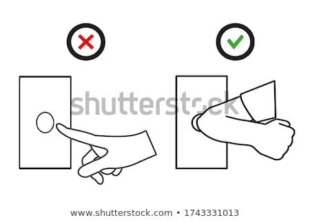 да кнопки икона успех выбора соглашение Сток-фото © kiddaikiddee