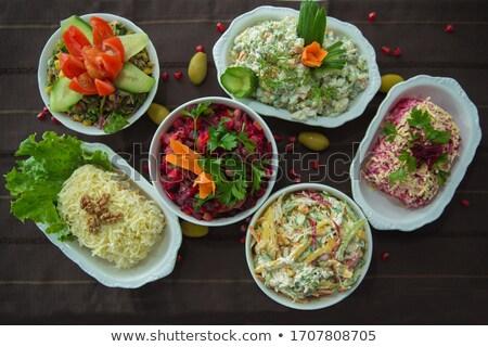 condimento · illustrazione · carattere · ciotola · insalata · alimentare - foto d'archivio © alexanderandariadna