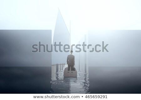 tekne · labirent · gol · kalmak · önde - stok fotoğraf © teerawit