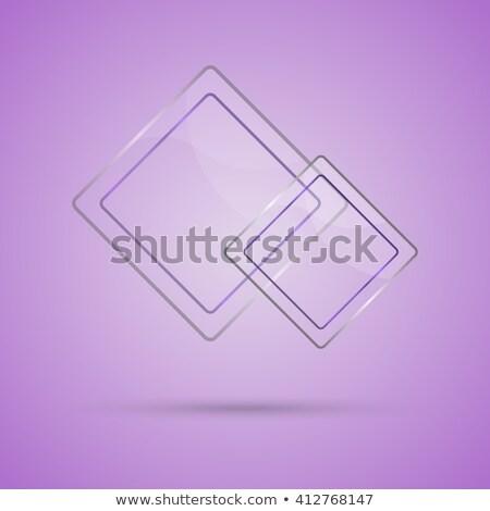 Abstract glas paneel exemplaar ruimte violet voorraad Stockfoto © punsayaporn