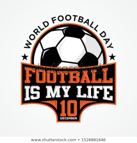 Stock photo: Football or soccer ball on grass. EPS 8