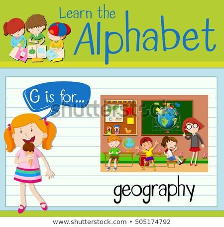 география иллюстрация детей студент фон Сток-фото © bluering