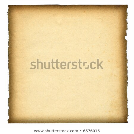 Foto stock: Very Old Blank Paper Background With Scroll Border