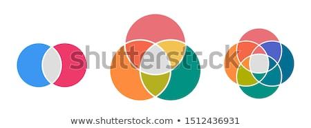 Intersecting circles stock photo © Zela