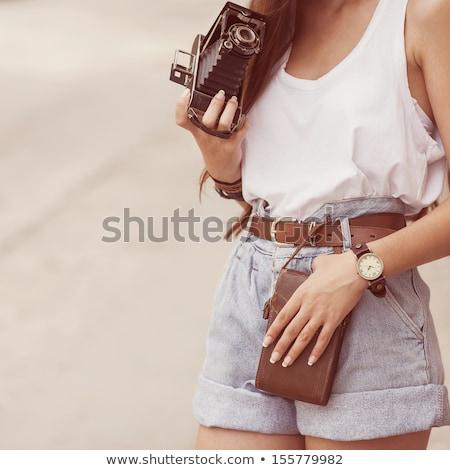 Fashion photo of young girl in swimwear. Stock photo © NeonShot