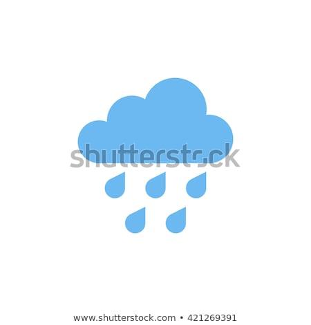 Nube pioggia mano verniciato olio pastello Foto d'archivio © pakete