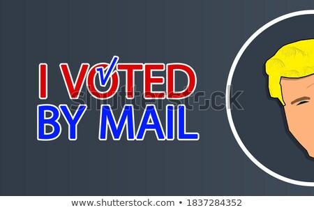 Stemming verkiezing label achtergrond teken vintage Stockfoto © vector1st