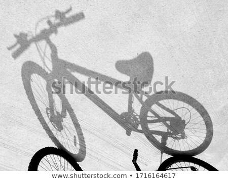 Biciklik árnyékok monokromatikus kép absztrakt utca Stock fotó © stevanovicigor