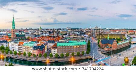 palazzo · Copenhagen · Danimarca · costruzione · blu - foto d'archivio © vladacanon