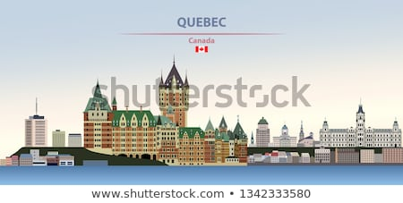 ufuk · çizgisi · siluet · Quebec · Kanada · binalar · kentsel - stok fotoğraf © blamb